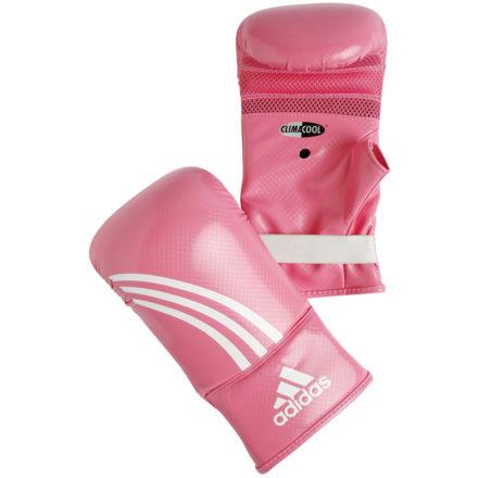 Adidas bokshandschoenen roze wit