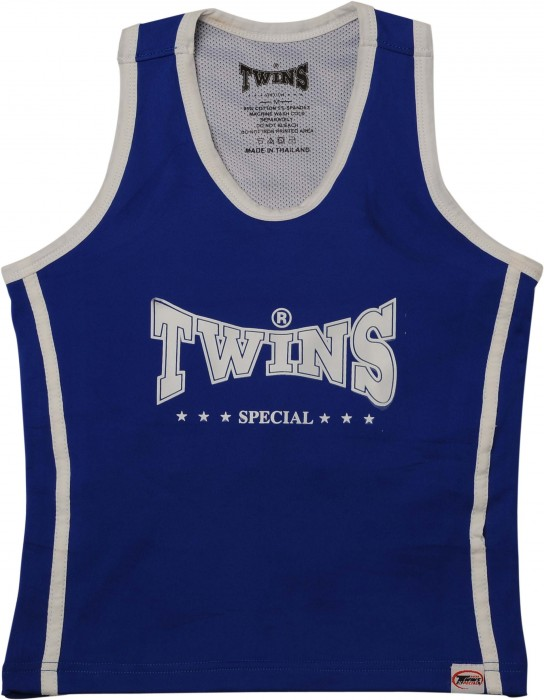 Twins Kickboks Topje (blauw/wit)