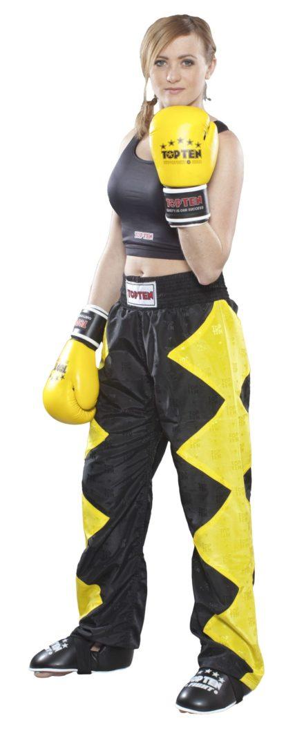 top-ten-kickboxing-pants-champ-size-m-170-cm-yellow-black-1611-2170