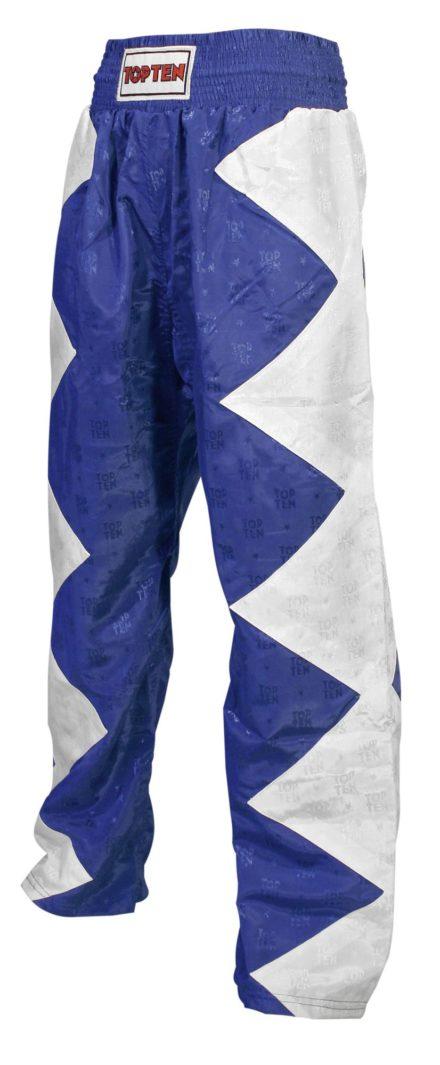 top-ten-kickboxing-pants-champ-size-s-160-cm-white-blue-1611-6160